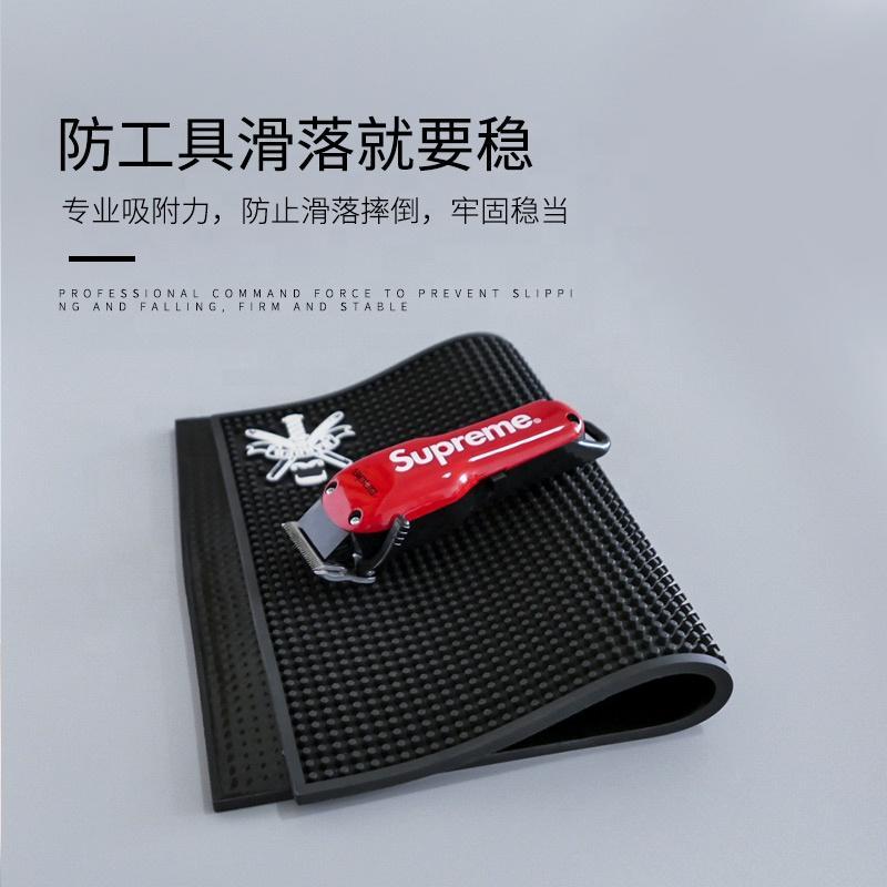 Customized Design Salon Hairdresser Tools Antiskid Pad Barber Work Station Mat PVC Soft Nonslip Mat