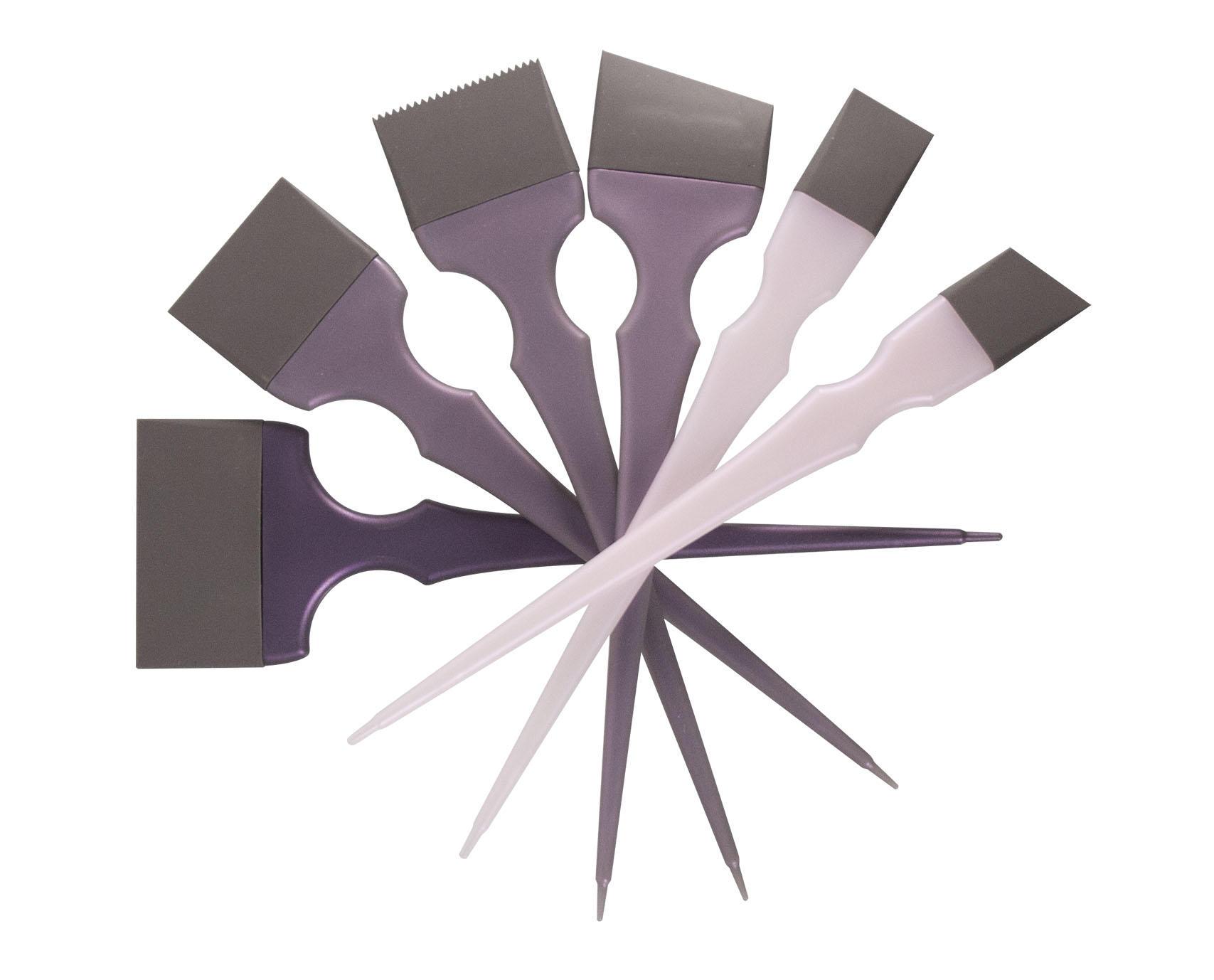 plastic silicon hair dye tinting brush salon coloring dye brush