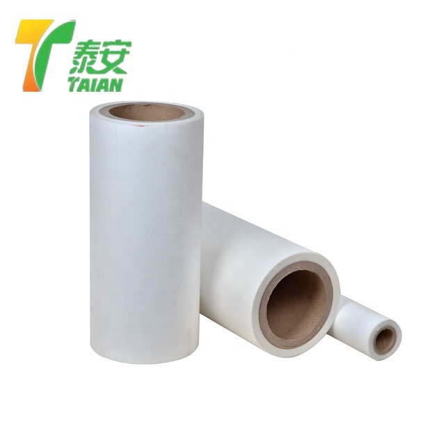 Thermal lamination film roll and pouch for credit card