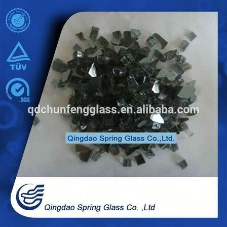 Crushed Black Glass for Fireplace Decoration, Factory Price