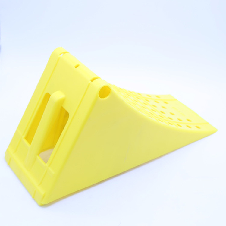 Good quality plastic material rubber wheel chock for park in-125051