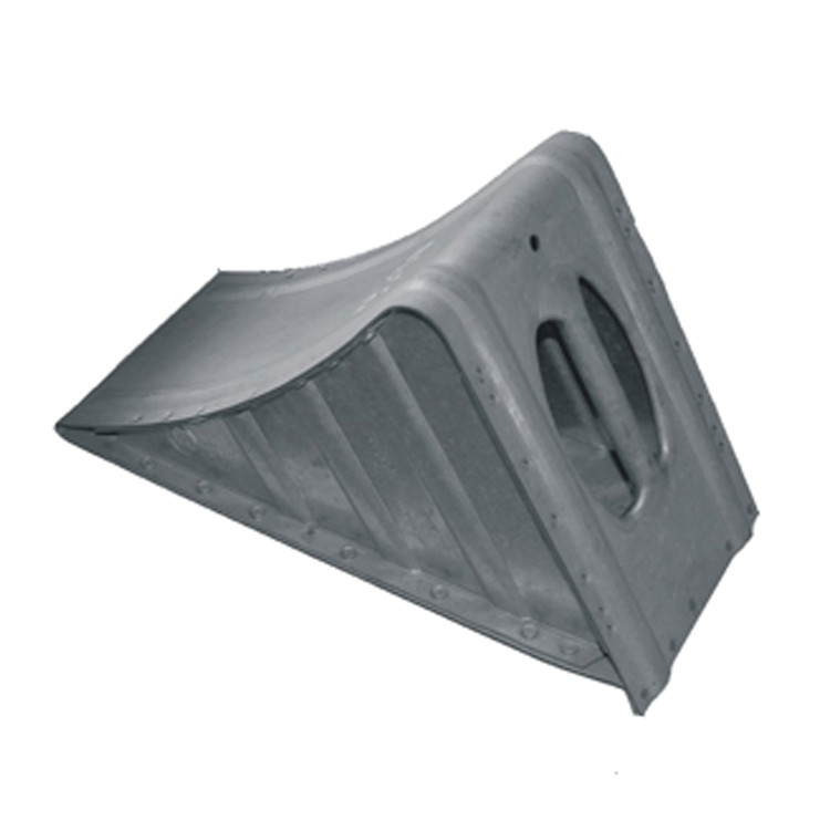 Good quality plastic material rubber wheel chock for park in-125011