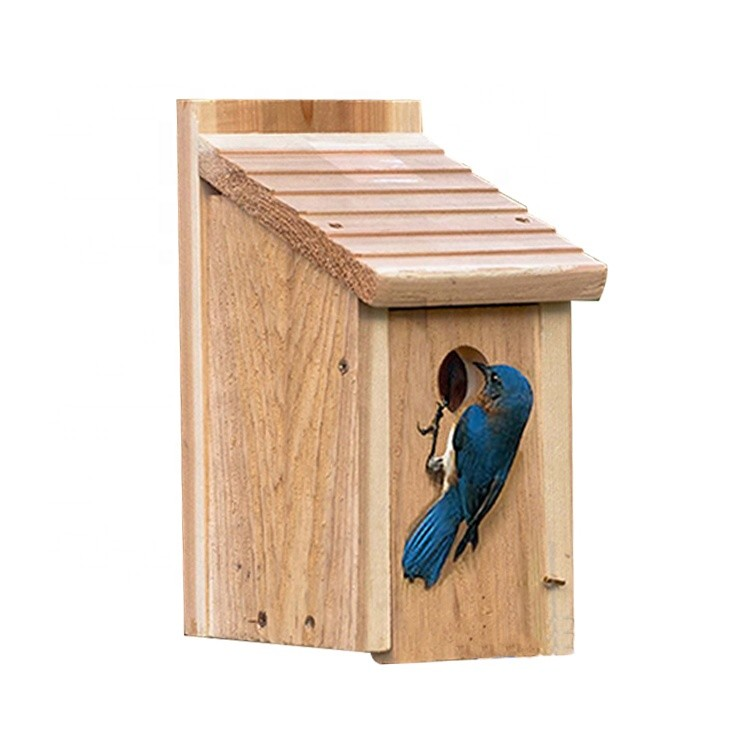 Wholesale China DIY Wooden Bird Cage Wood Bird House Craft Decoration