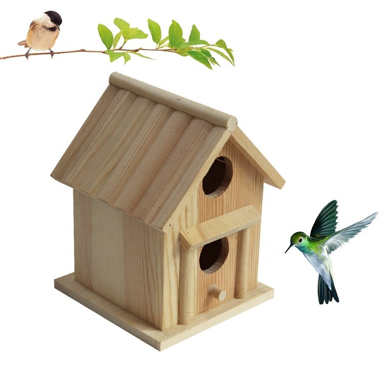 garden custom promotion gift finished classical wooden carved bird house