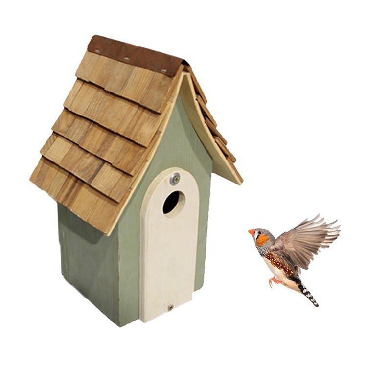 custom color painted garden decor wooden bird house small wood birdcage