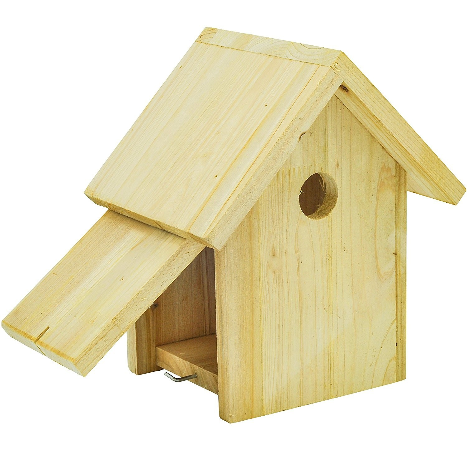 Antique design unfinished wooden bird house outdoor parrot cage garden decor 8.2 x 6.2 x 9.6 inches