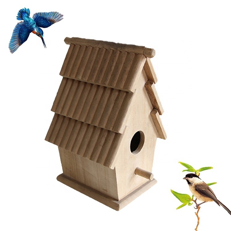 customized eco-friendly small wooden bird house practical birds cages
