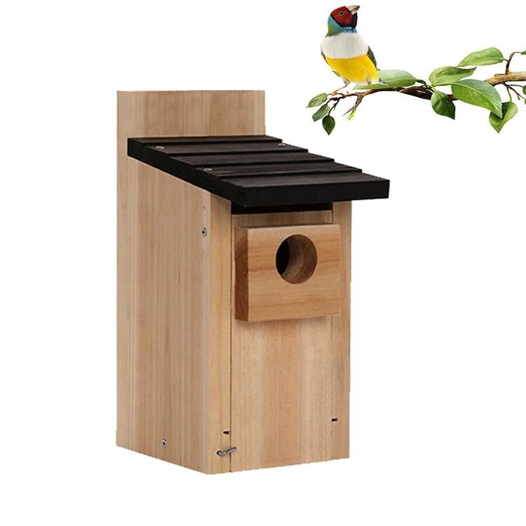 High quality outdoor water proof wooden bird cage bird house,outdoors diy bluebird nest box hanging tree wooden birdhouse