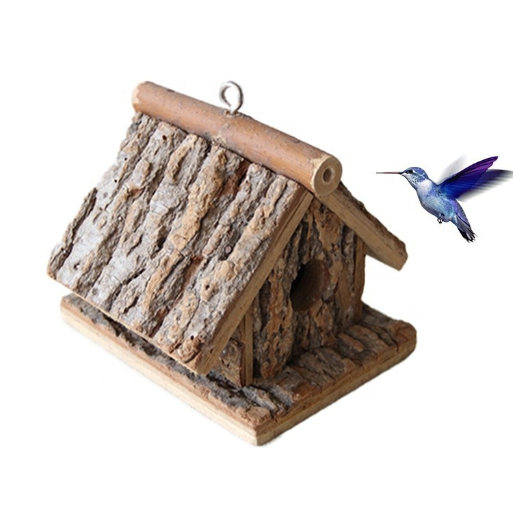 concise style factory direct handmade wooden environmental protection bird house