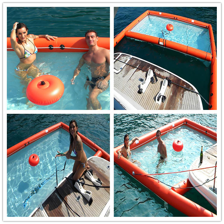custom inflatable floating sea poolwater play equipment