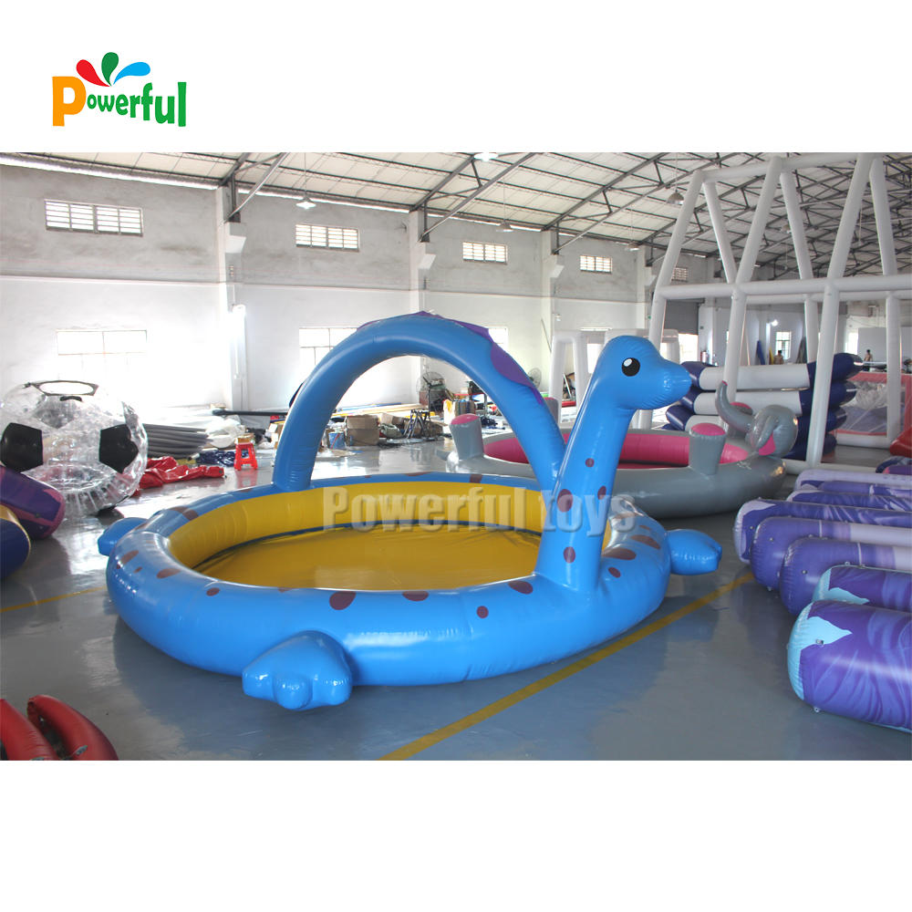 The inflatable dinosaur pool float outdoor kids swimming pool