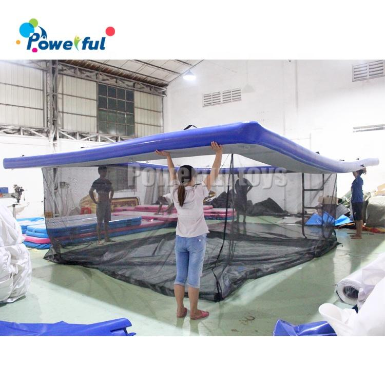 7mx5mx2m inflatable sea pool with net inflatable swimming floating pool for super yacht boat jellyfish protection