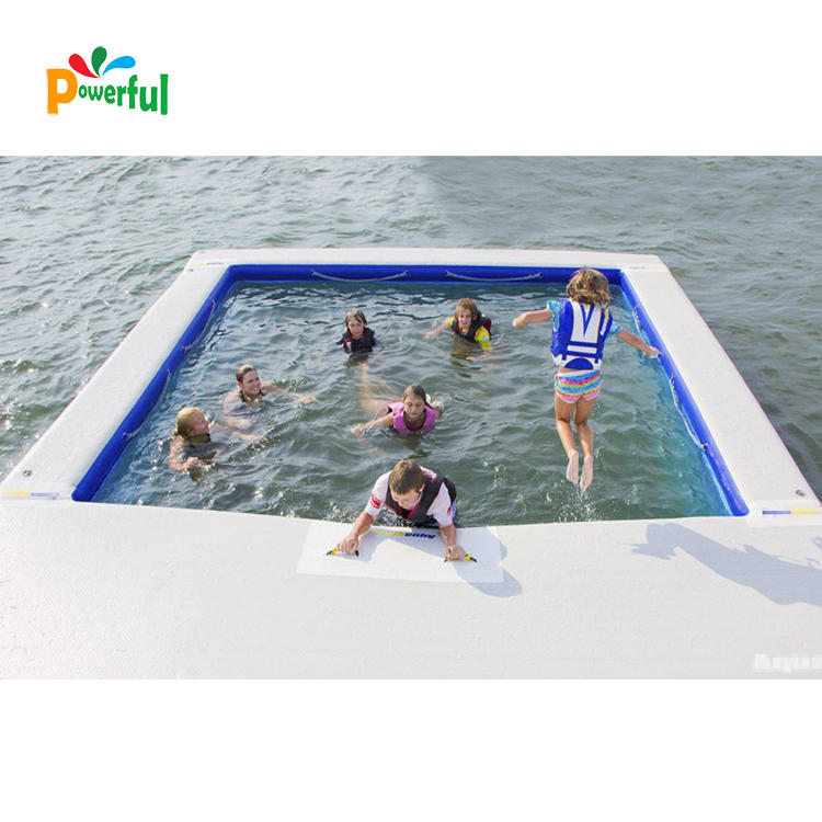 Sea private party inflatable swimming pond yacht pool