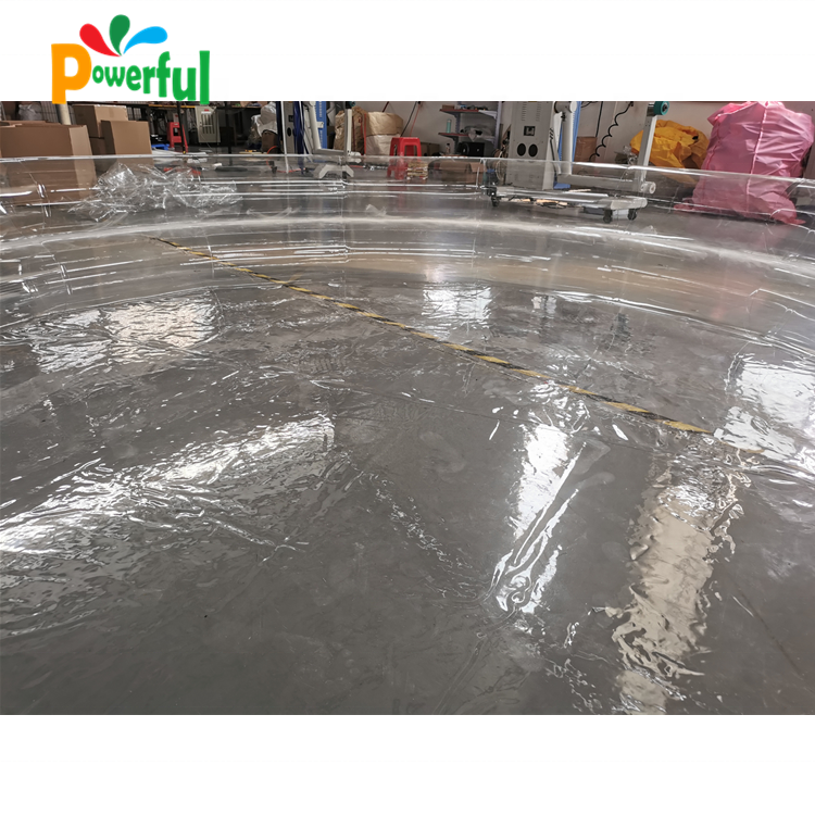 2019 New designed inflatable transparent swimming pool for adults