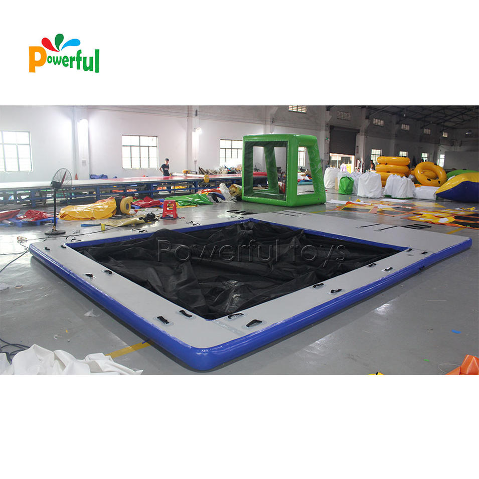Double Layer Quality Guarantee DWF Double Wall Fabric Yacht Pool float Ocean Inflatable Sea Swimming Pool with Net