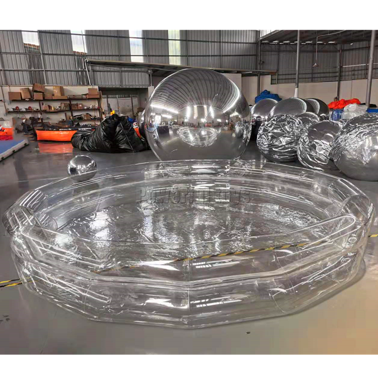 Inflatable clear swimming water pool PVC spa tube