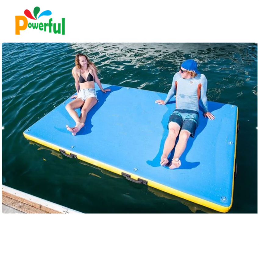 Hot Selling Inflatable Floating Platform Water Dock Island For Yacht