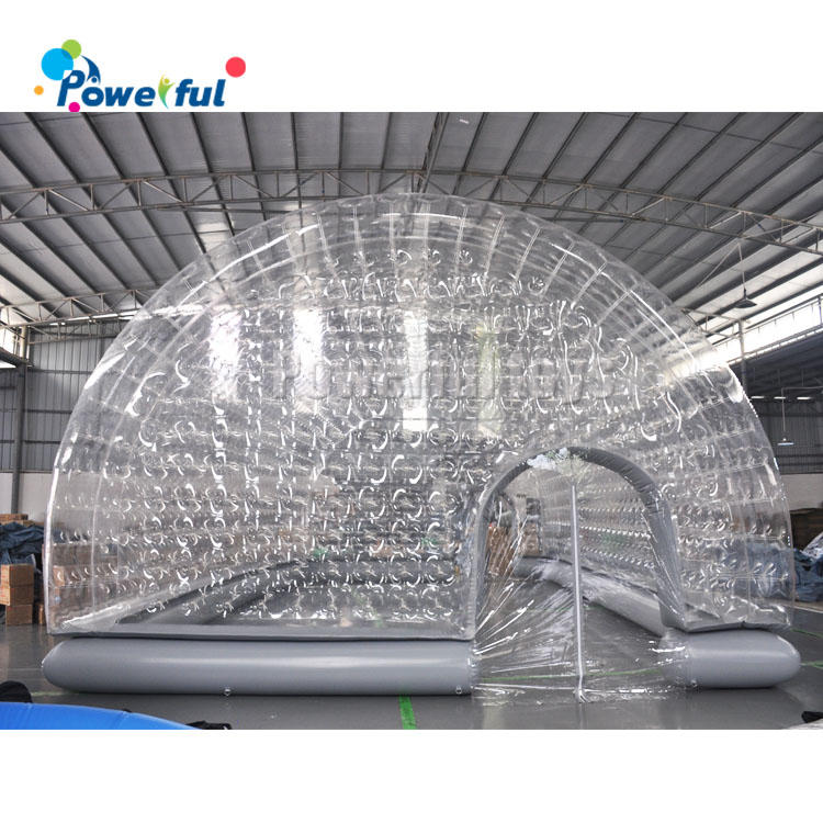 Inflatable tunnel dome tent swimming pool cover tent with air pump for winner