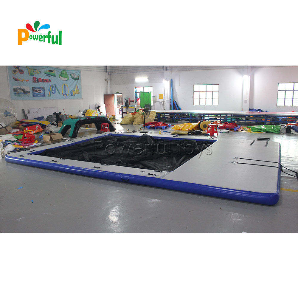 High quality inflatable floating swimming sea pool ocean pool with net