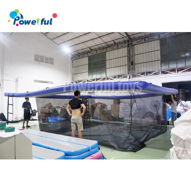 Customized size Outdoor inflatable float ocean water pool for yacht