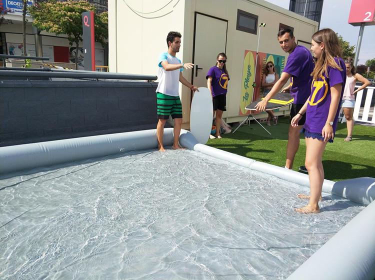 giant PVC 20 meters long inflatable skim board pool or inflatable skimboard pool or inflatable water pool for skimboard