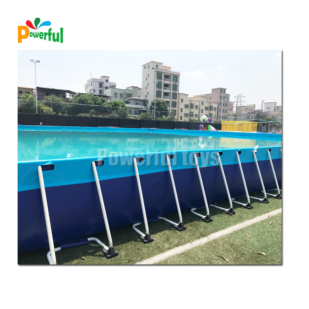 Commercial inflatable Rectangular Metal Frame Swimming Pool
