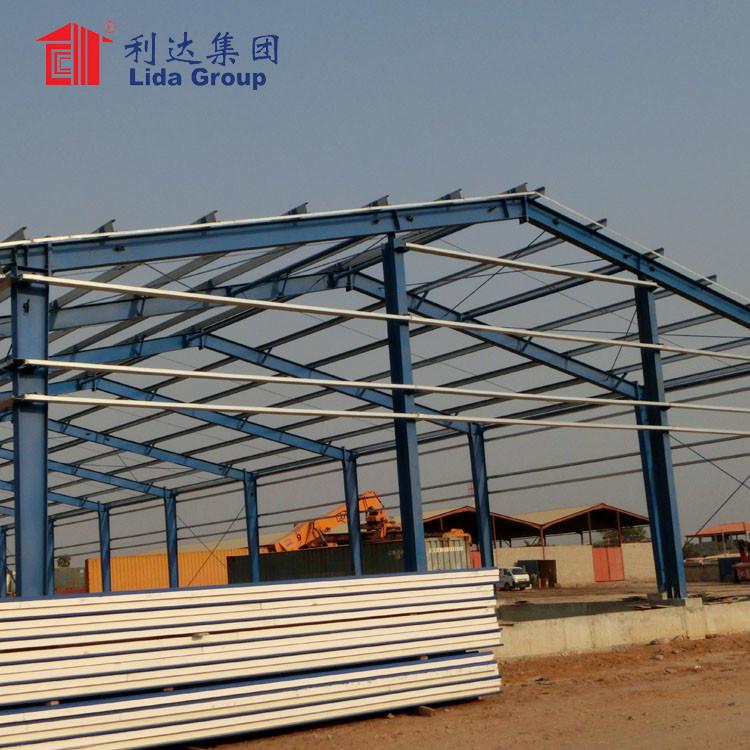 Low cost modern industrial park prefab steel structure workshop