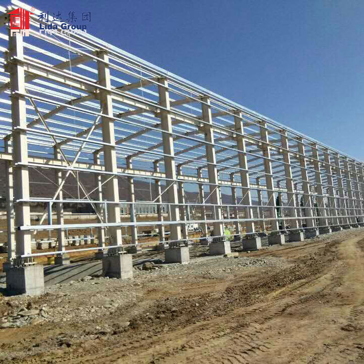 Wind snow fire earthquake resistant low cost ready made warehouse for rent korea