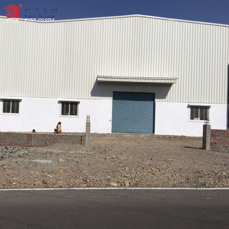 10000 square meter large span prefabricated steel structure warehouse dwg