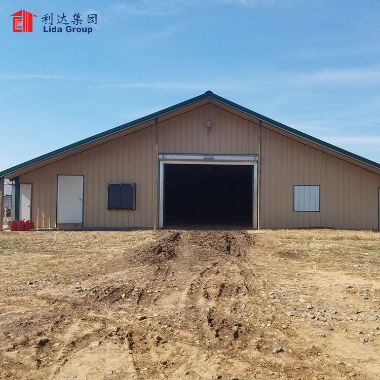 High quality heat proof chicken shed poultry farm house design structures for Ethiopia