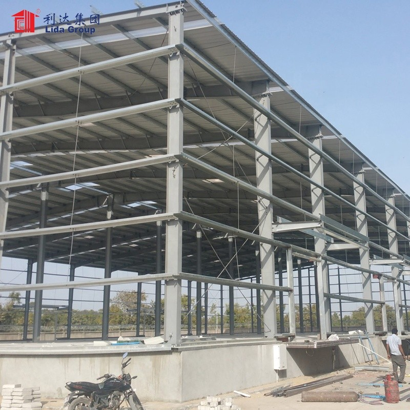 Steel frame structures factory, small factory building
