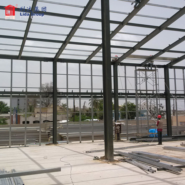 Prefab galvanized structural iron structural steel building prefabricated