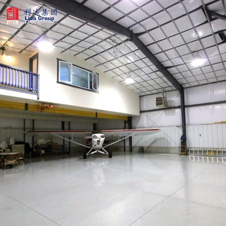 Airplane hangar steel structure, hanger structure
