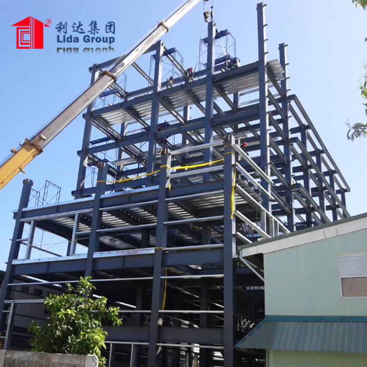 Steel Frame Prefab 2 Storey Apartment Building/Office Building