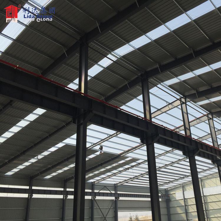 Large span long service life prefab workshop metal shed modular cheap aircraft hangar for Mauritius