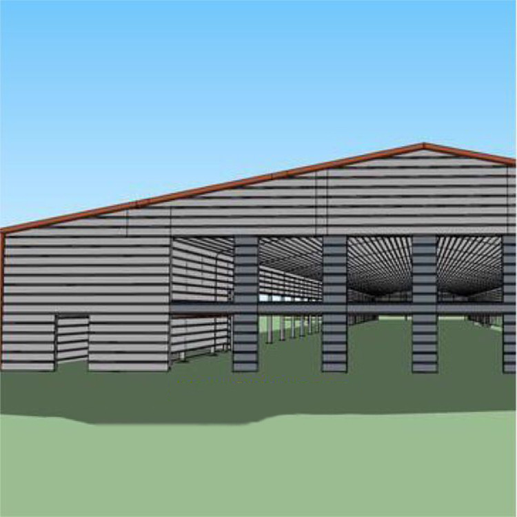 H beam steel structure poultry house farm
