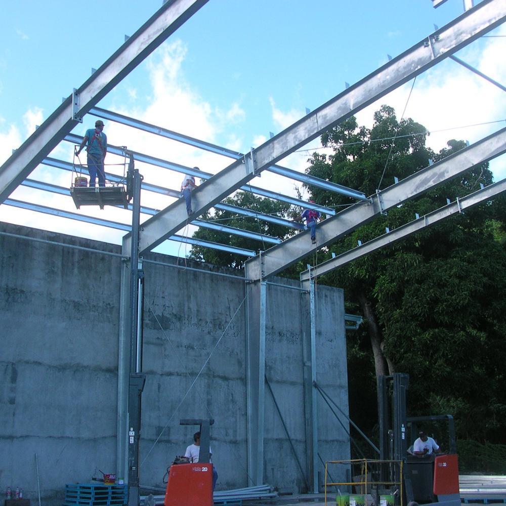 Prefab Structure Steel Island Galvanized Building