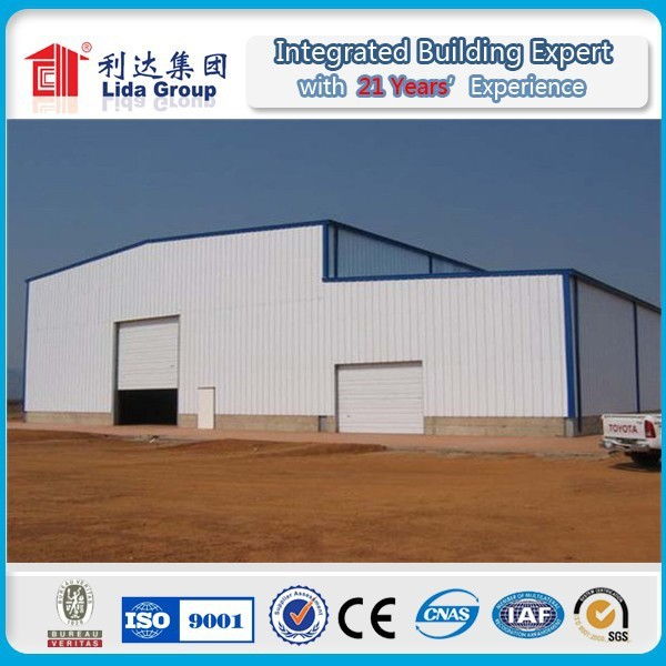 easy build light steel prefab warehouse