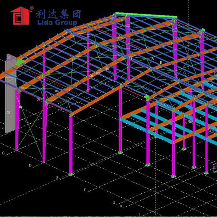 Modern industrial park operation workshop prefab steel building