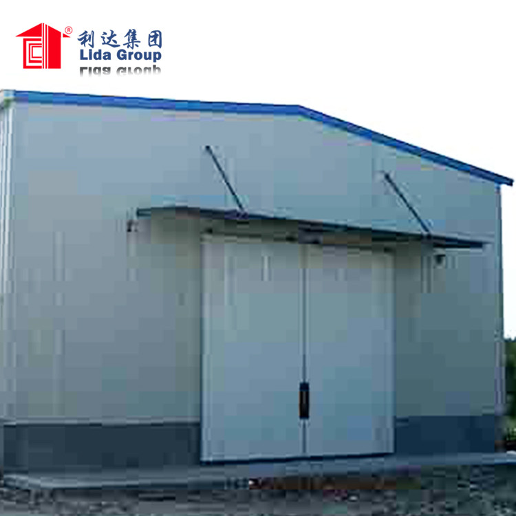 Prefabricated steel structures commercial warehouse / steel metal buildings sheds construction