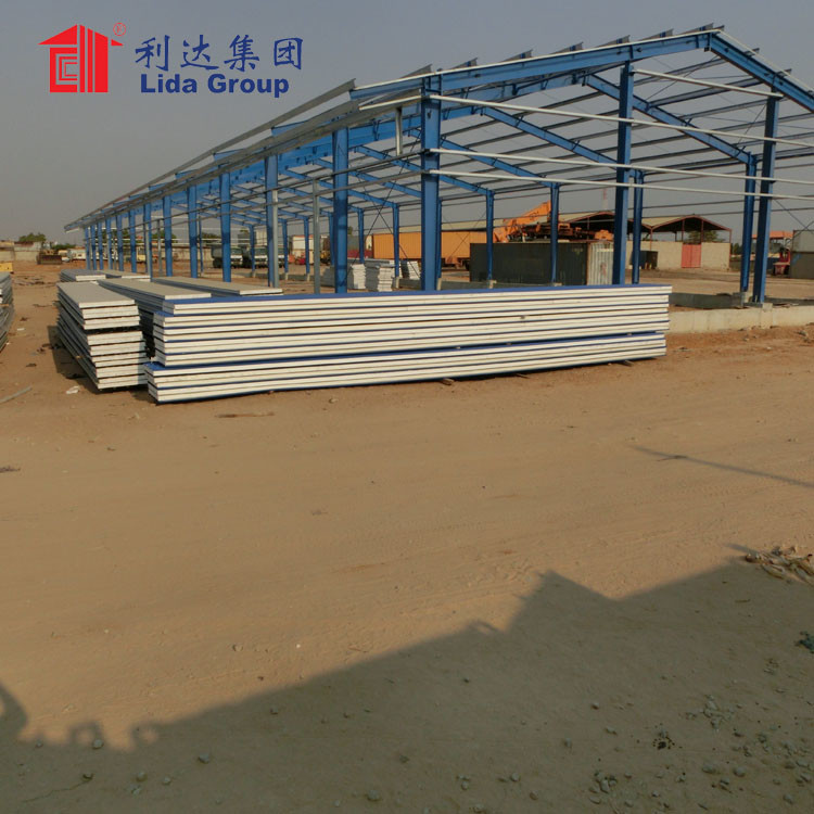 Low cost chinese prefabricated sandwich panel house