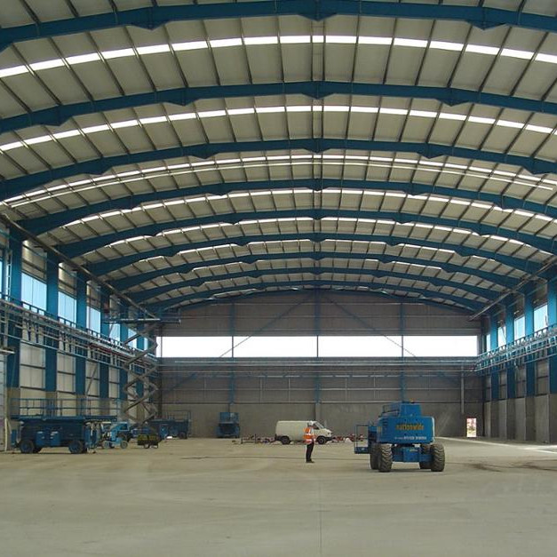 2019 galvanized Warehouse/Hangar/workshop/shed Steel frame Structure Building in deserts and tropical areas