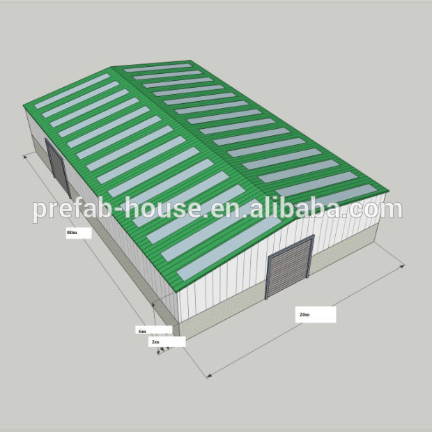 warehouse Roof color will be orange color, wall- green color Mongolia Ethiopia