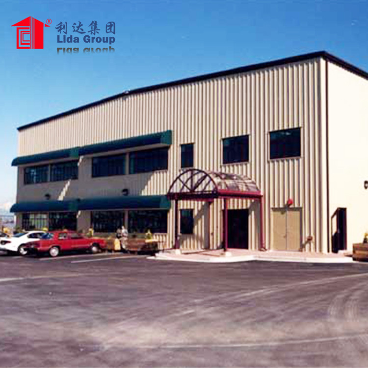 High quality Industrial Steel Structure Building Prefabricated Hall / color light steel construction