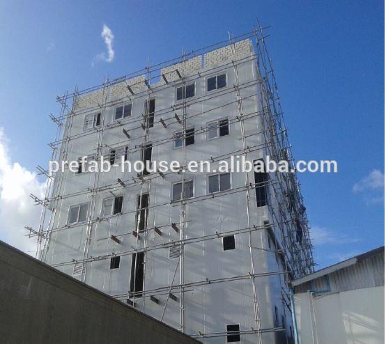 6 floors warehouse prefab house multi story building
