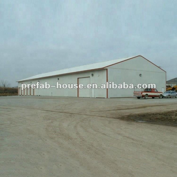 Algeria project prefabricated steel structure warehouse storage building