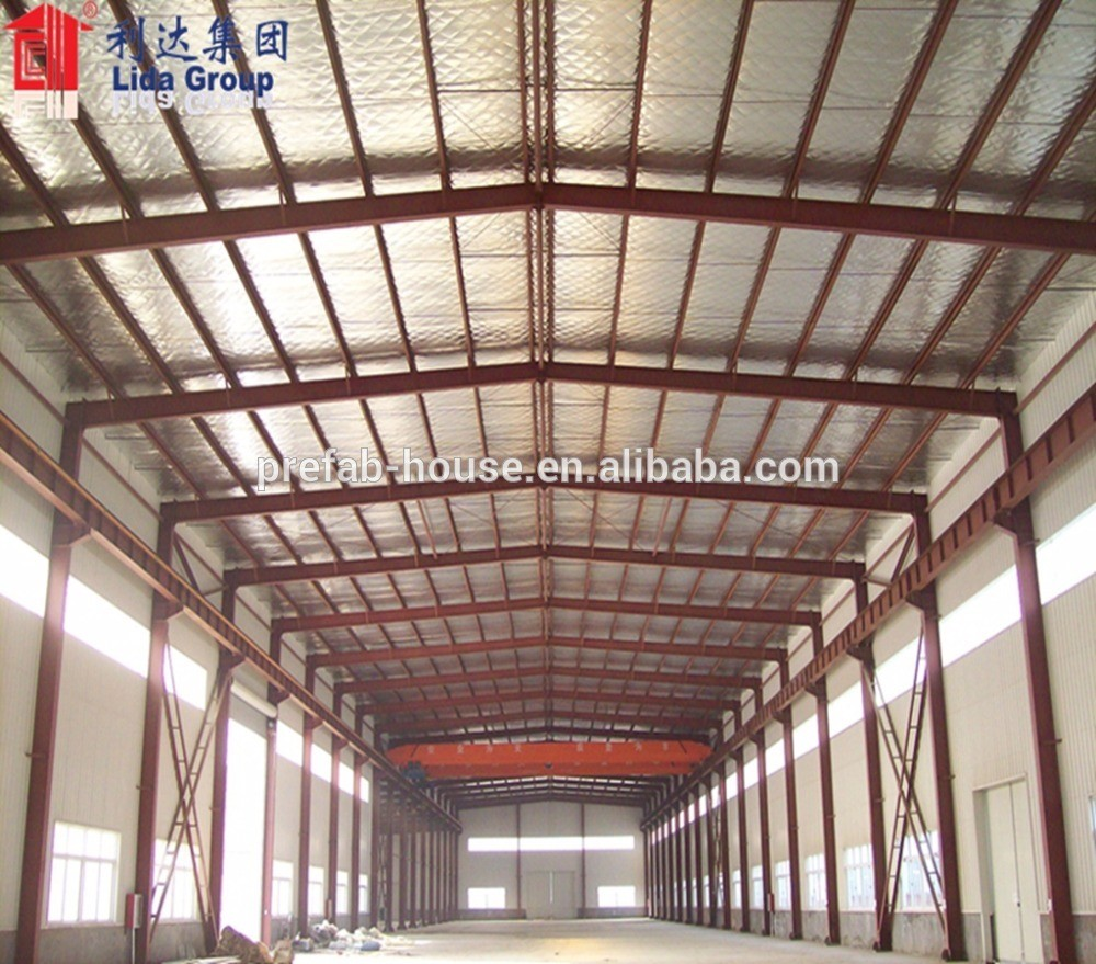 Two Story Steel Structure Frame Warehouse Construction Design