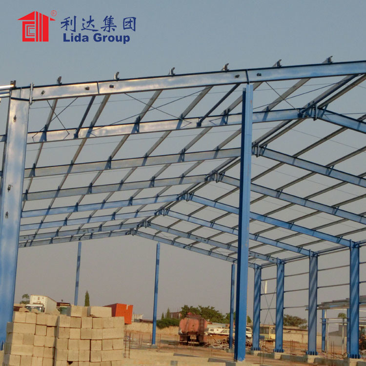 High quality Prefabricated steel frame warehouse/steel structure fabrication