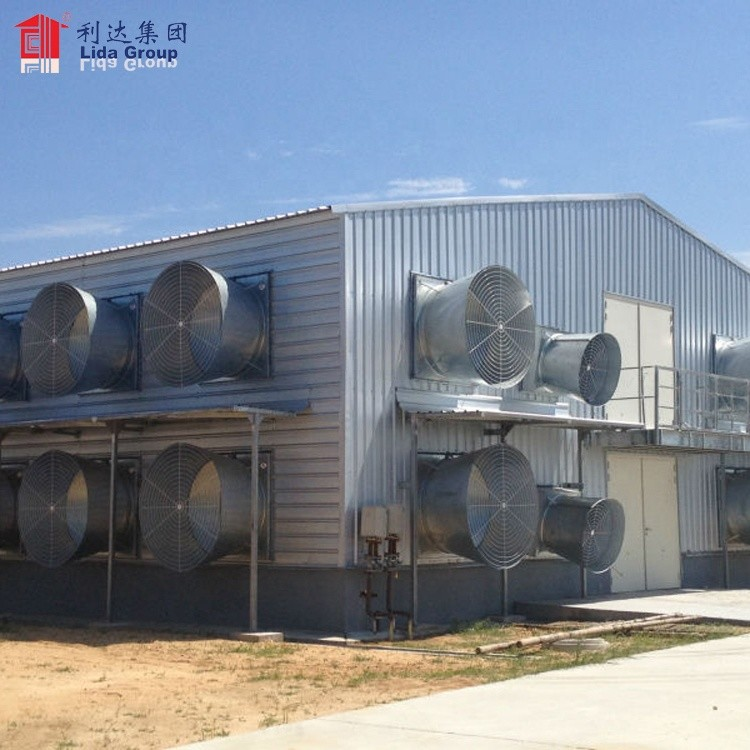 2019 Modern low price Poultry Farm chicken Buildings shed for sale