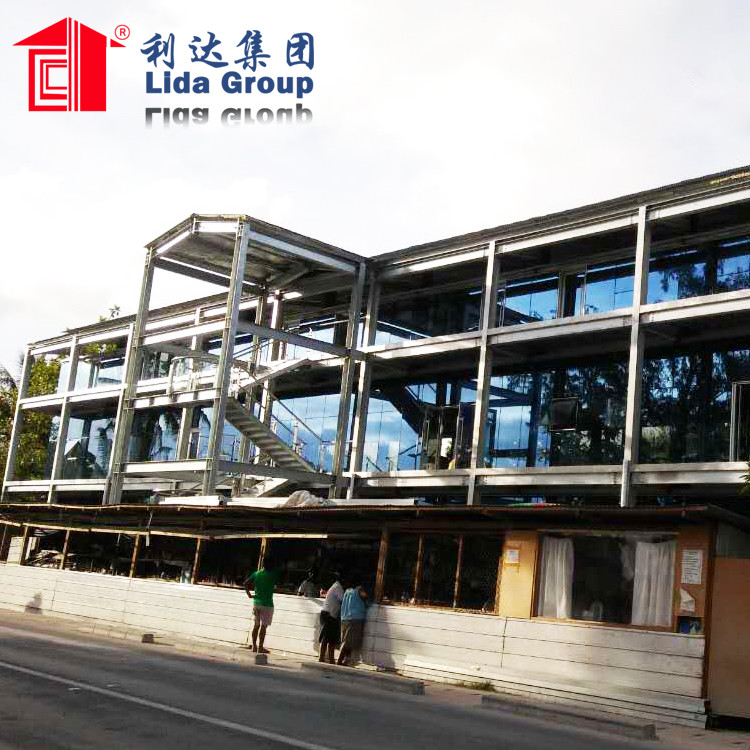 prefabricated steel structure shopping mall